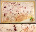 Piri Reis Duvar Haritası,Ofis PiriReis Duvar Kaığıdı Baskı (ANT13)