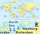 Dünya Limanlar Haritası Pdf Formatında Yüksek Çözünürlüklü Harita Baskılar (THB005)